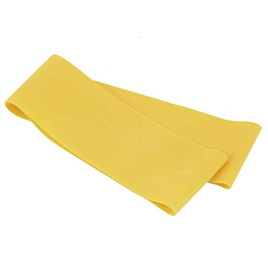 滑り止めの伸縮性のあるゴム製伸縮性があるヨガのベルトバンド引きロープの張力抵抗バンドループ強さのためのフィットネスヨガツール - 黄色