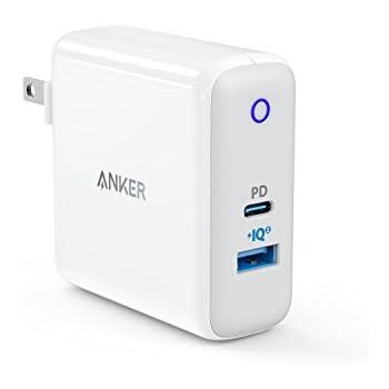 Anker PowerPort ll PD - 1 PD and 1 PowerIQ 2.0 (48W 2ポートUSB-A & USB-C 急速充電器)【PSE認証済/PowerIQ 2.0搭載 / PD対応/折りたたみ式プラグ搭載 】iPhone 11 / 11 Pro / 11 Pro Max / XR / 8、Galaxy S10 / S10+、Xperia XZ1、MacBook他対応(ホワイト)