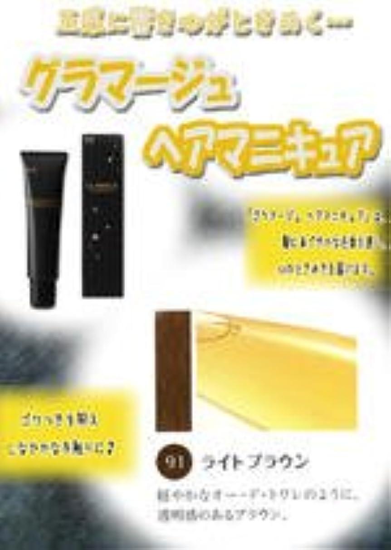永久再生隔離HOYU ホーユー グラマージュ ヘアマニキュア 91 ライトブラウン 150g 【ブラウン系】