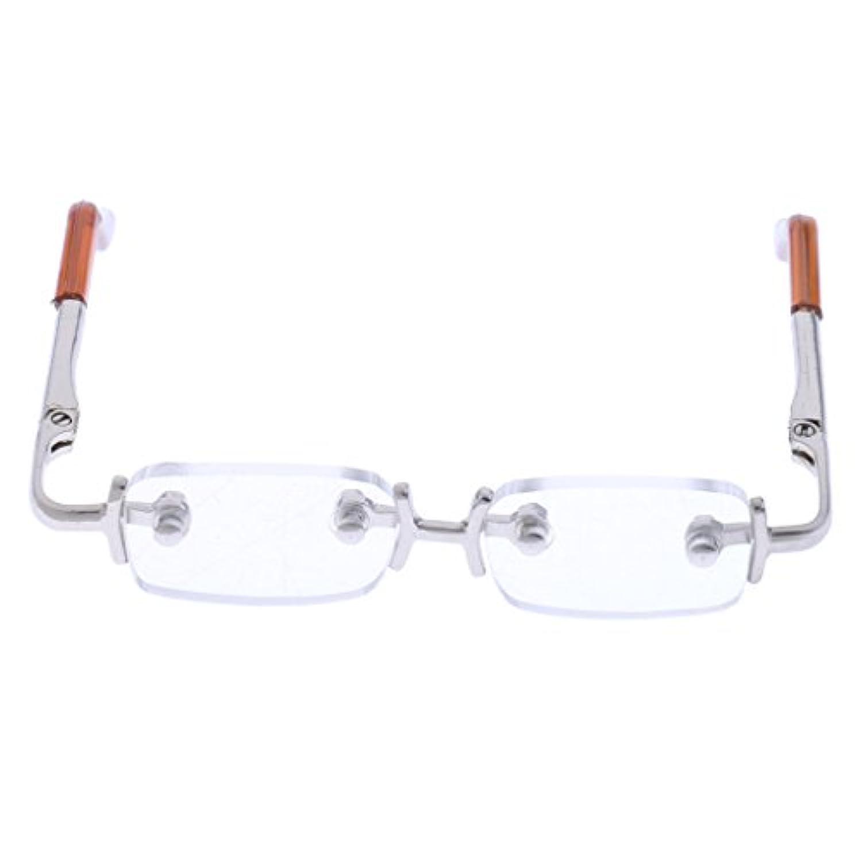 Fenteer ペア 1/3 BJD SD AODドール人形のため ファッション スクエアフレーム 眼鏡 アイウェア 3色選択 - 白