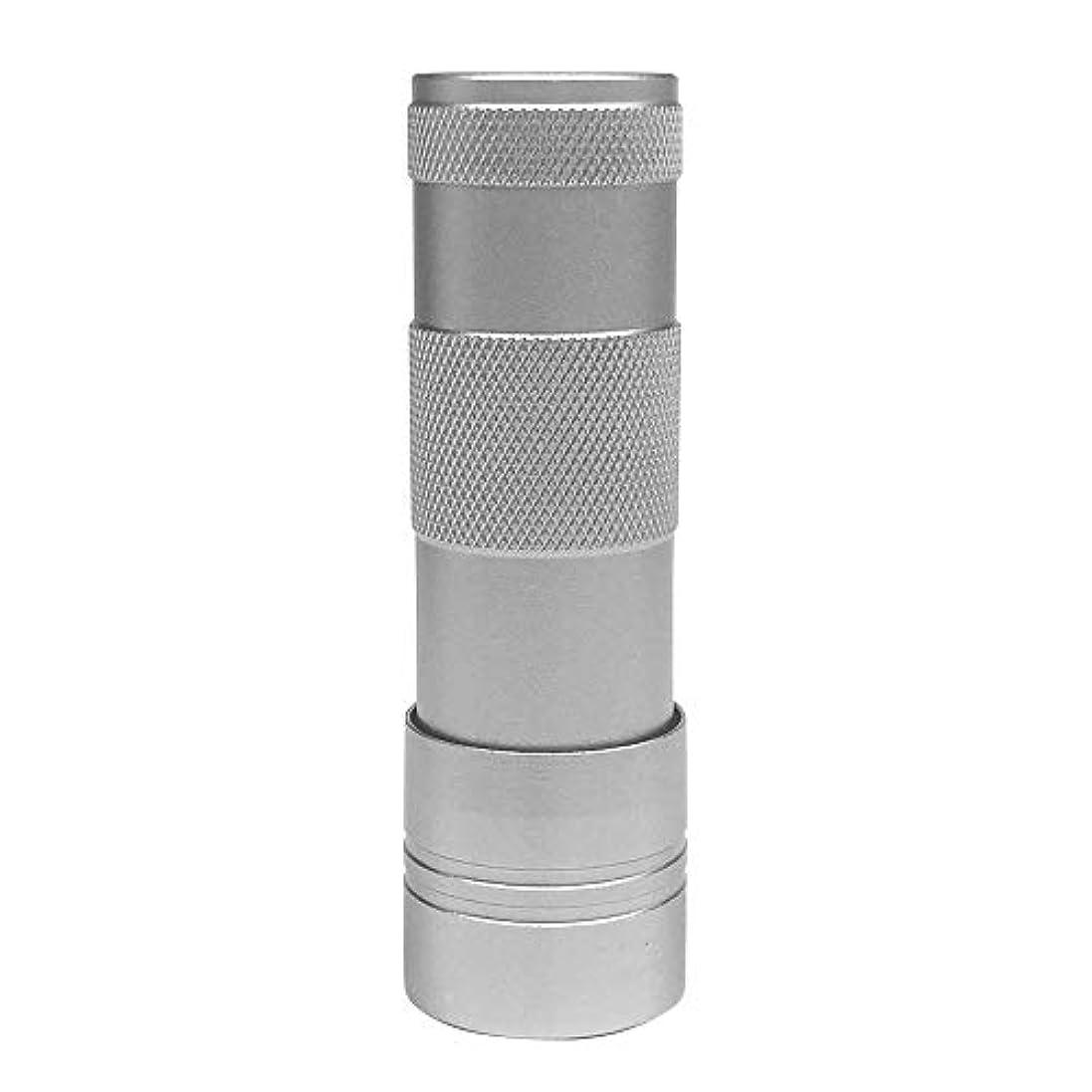 騒々しい衣服契約LEDハンドライト(12灯)ペン型?ハンディ型 ジェルネイル (シルバー)