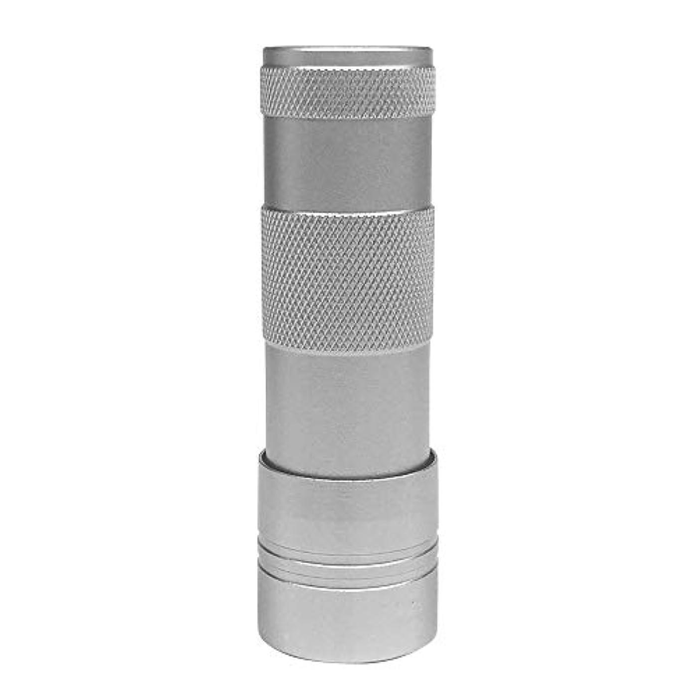 代わりのピストル緩やかなLEDハンドライト(12灯)ペン型?ハンディ型 ジェルネイル (シルバー)