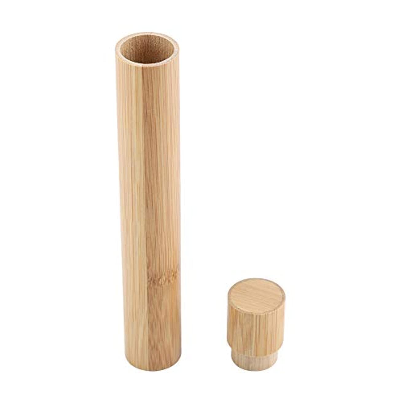 リル困惑泥沼歯ブラシケース ブラシホルダー ブラシ収納 ポータブル エコフレンドリー 木製 竹 トラベル用 プロテクト 収納ケース ブラシ保護