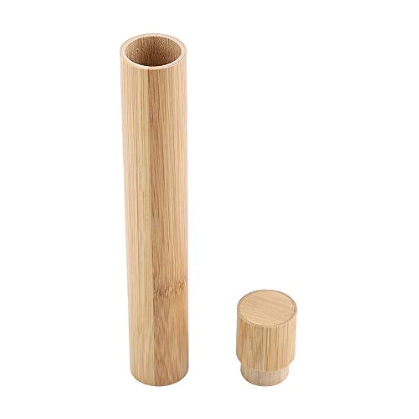 デザイナーピグマリオングローブ歯ブラシケース ブラシホルダー ブラシ収納 ポータブル エコフレンドリー 木製 竹 トラベル用 プロテクト 収納ケース ブラシ保護