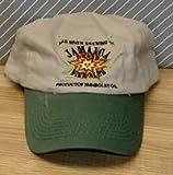 ヘッドポーター Mad川Brewing CompanyジャマイカブランドFine Ales調節可能なストラップバック刺繍フロッピースタイル釣り帽子–カーキwithグリーンBill