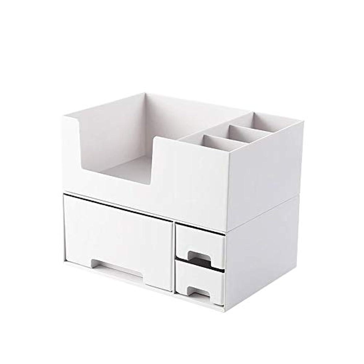 認める空中オートメーションBostar 化粧品収納ボックス メイクボックス コスメケース 引き出し 小物入れ 収納ケース 整理簡単 北欧 おしゃれ ホワイト