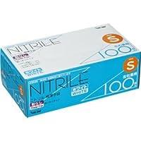 (まとめ) 川西工業 ニトリル 使いきり極薄手袋 粉なし ホワイト S #2039 1箱(100枚)