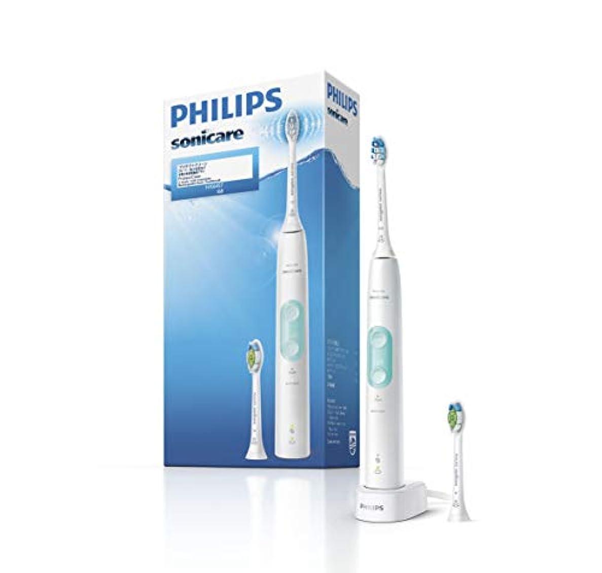 吸収する男らしさリークフィリップス ソニッケアー プロテクトクリーン プラス 電動歯ブラシ ホワイトミント HX6457/68