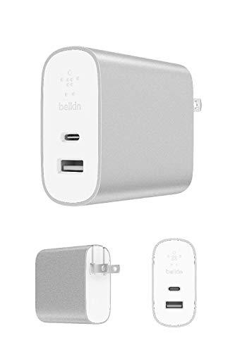【Amazon.co.jp 限定】Belkin BOOST CHARGE USB充電器(27W USB-C + 12W USB-A)/折りたたみ式プラグ[国内正規品] F7U061DQ-SLV-A