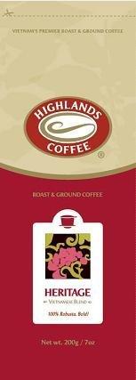 粉末 HIGHLANDS COFFEE(ハイランズコーヒー) ロブスタブレンド 200g ground coffee