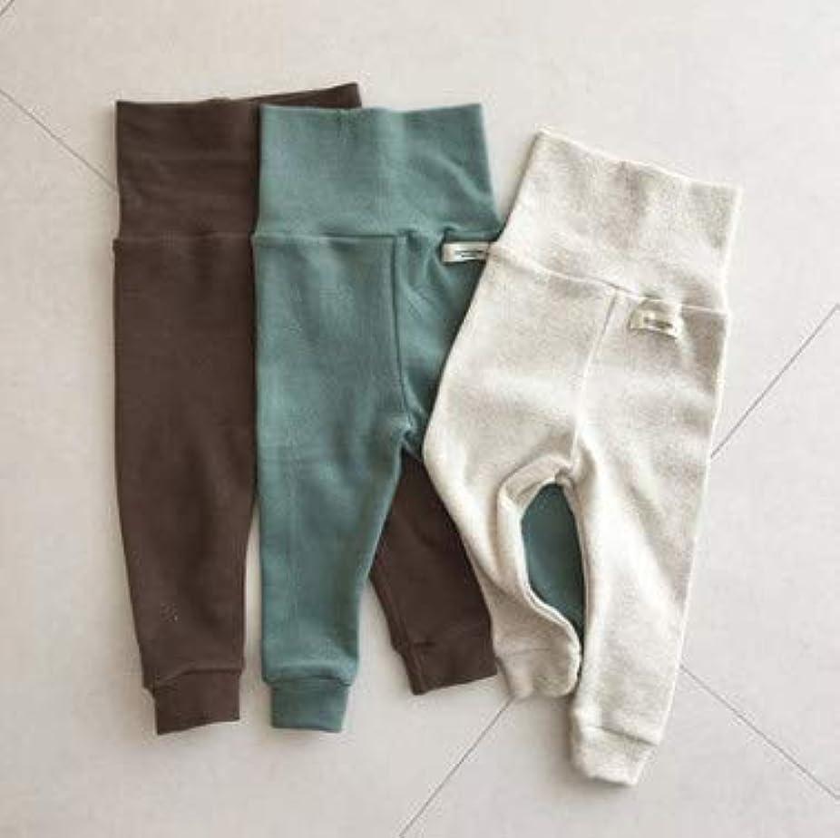 こんにちはビリー慢な韓国風 ベビー赤ちゃん キッズ男女 ボトムス レギンス パンツ 66cm-90cm 3色(ベージュ ブラウン グリーン) 2色セット 3色セット