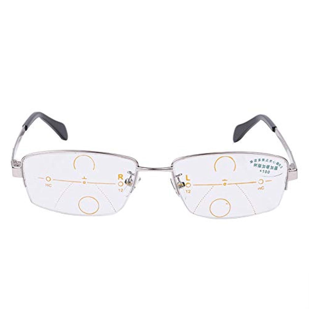 正確な落ち込んでいる裸インテリジェント自動ズーム老眼鏡、青い抗疲労老眼鏡、老人男性のHDプログレッシブマルチフォーカス老眼鏡、両親の贈り物