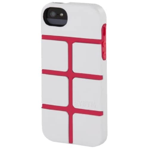 Incase SY10036 Chisel Case for Apple iPhone 5 - 1 Pack - Retail Packaging - White/Pop Pink [並行輸入品]