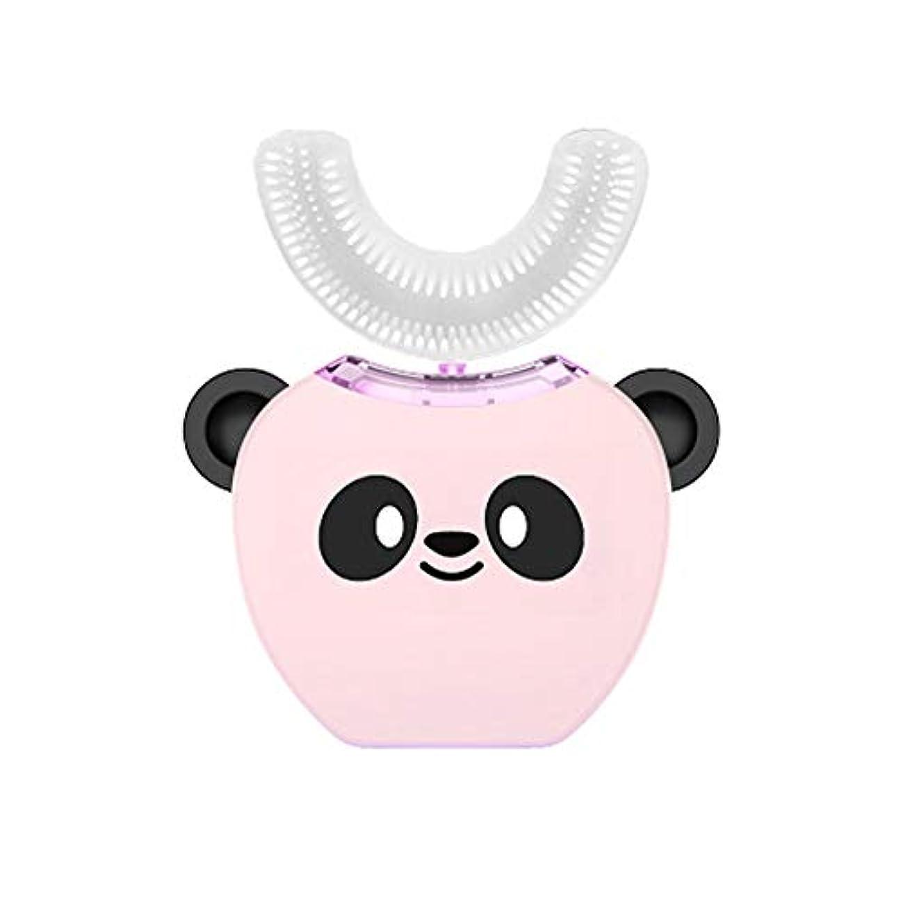 パイントシリング顧問子供のU字型超音波電動歯ブラシ子供自動歯磨き粉360°歯ホワイトニング3-7年子供