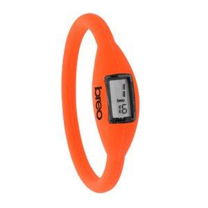 【3気圧防水 breo ブレオ シリコンウォッチ 腕時計 ロームウォッチ】 NEON Orange(ネオンオレンジ・蛍光) Mサイズ