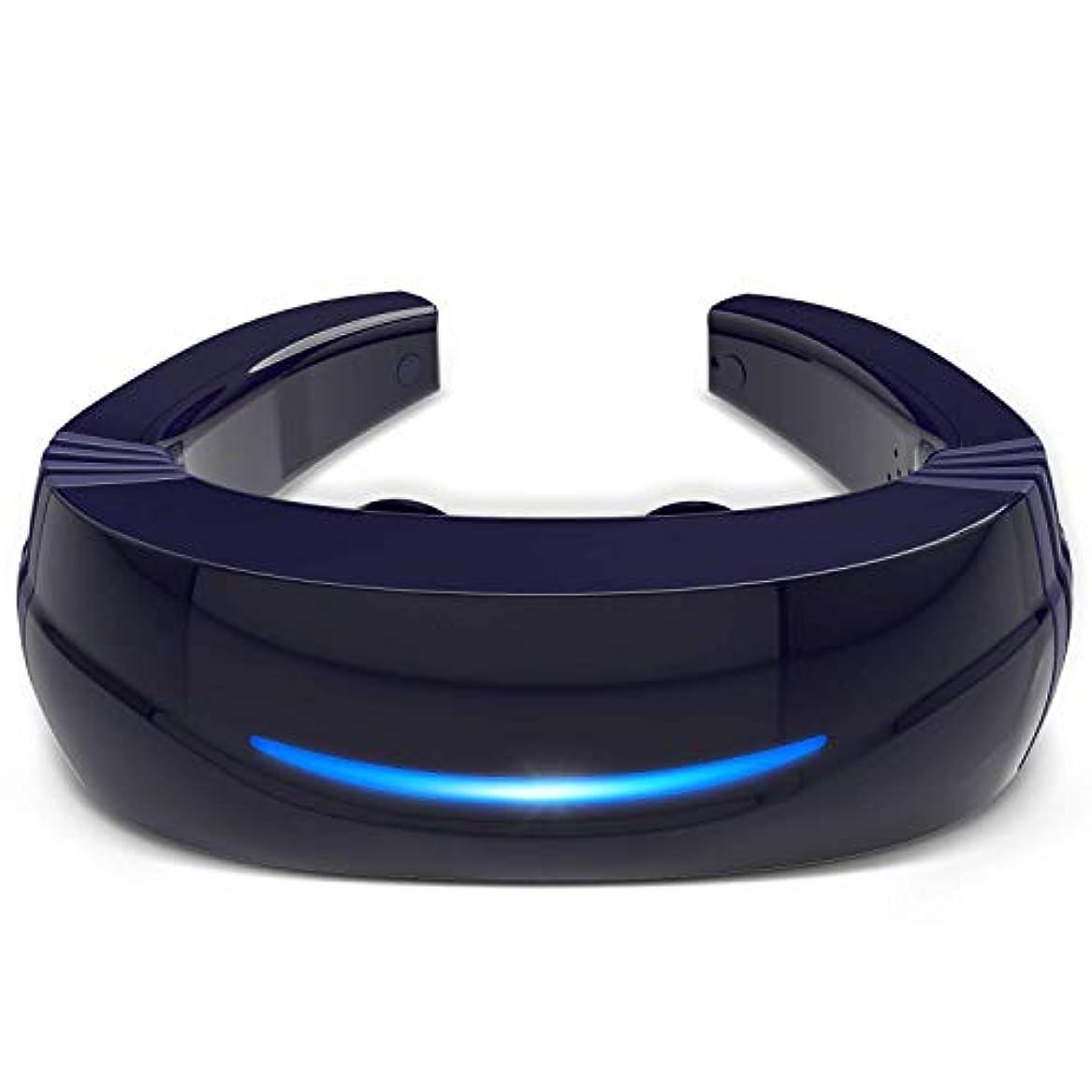 パニックマイクロフォン鋸歯状Hipoo ネックマッサージャー 首マッサージ 低周波 マッサージ器 ストレス解消 USB充電式 日本語説明書 電極パッド2つ付き 音声式