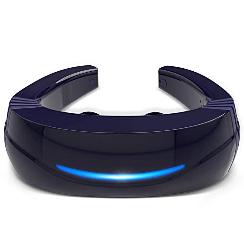 今までタイマー欠席Hipoo ネックマッサージャー 首マッサージ 低周波 マッサージ器 ストレス解消 USB充電式 日本語説明書 電極パッド2つ付き 音声式