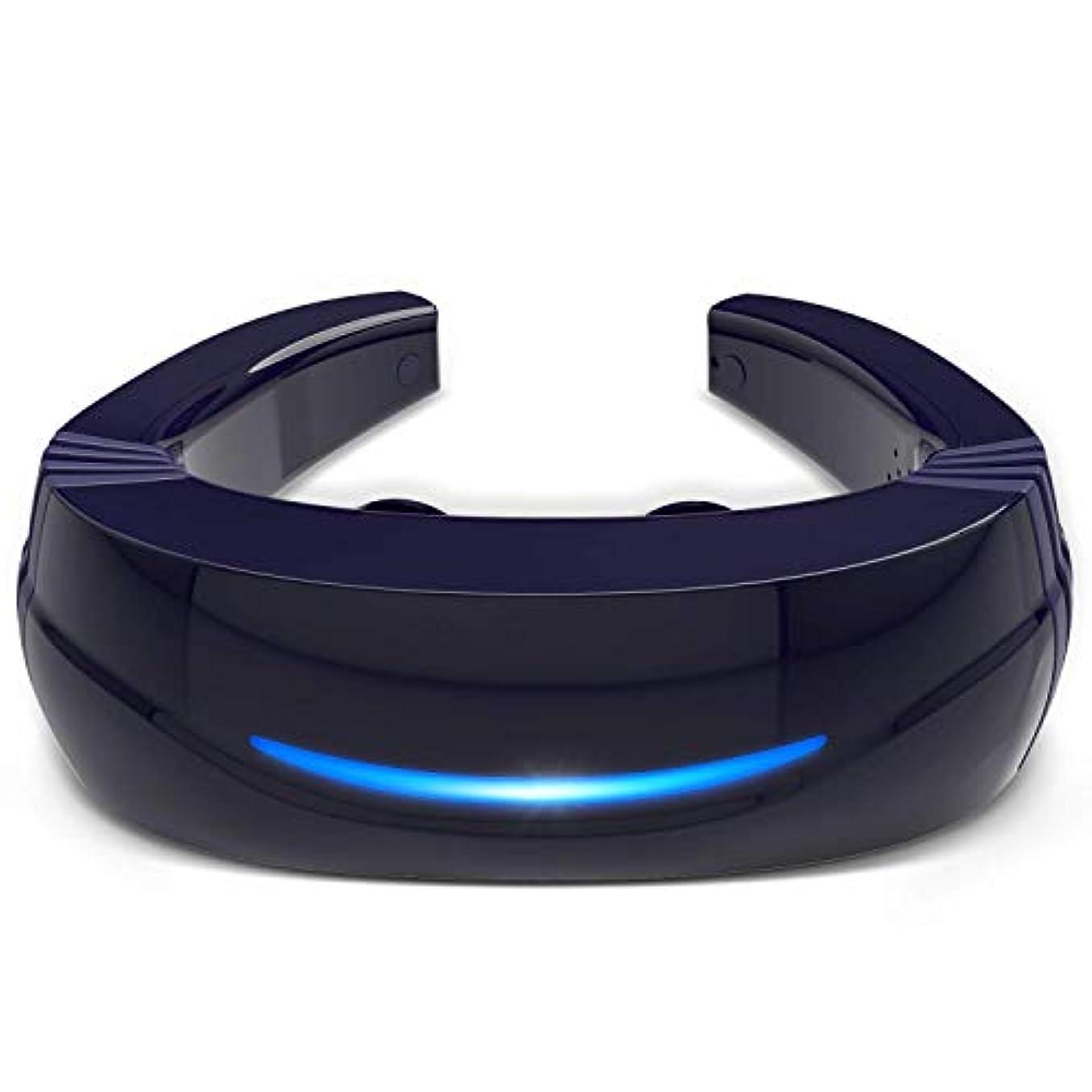 シュリンクペンダントラウンジHipoo ネックマッサージャー 首マッサージ 低周波 マッサージ器 ストレス解消 USB充電式 日本語説明書 電極パッド2つ付き 音声式