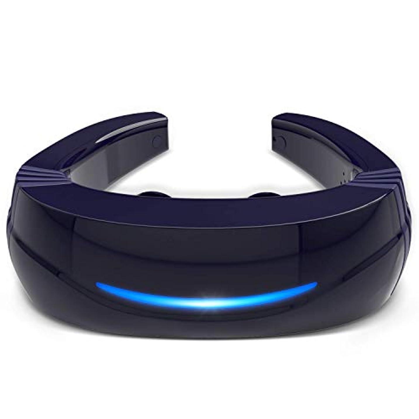 届けるパズル福祉Hipoo ネックマッサージャー 首マッサージ 低周波 マッサージ器 ストレス解消 USB充電式 日本語説明書 電極パッド2つ付き 音声式