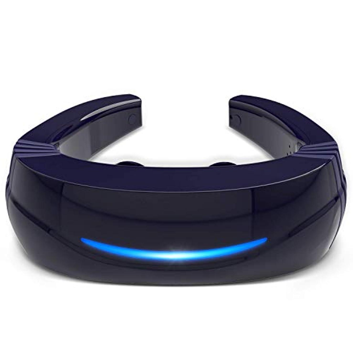 吐く正午ポップHipoo ネックマッサージャー 首マッサージ 低周波 マッサージ器 ストレス解消 USB充電式 日本語説明書 電極パッド2つ付き 音声式