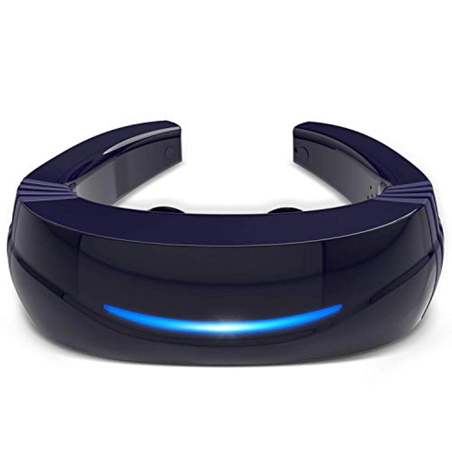 誰も癒すコミットHipoo ネックマッサージャー 首マッサージ 低周波 マッサージ器 ストレス解消 USB充電式 日本語説明書 電極パッド2つ付き 音声式