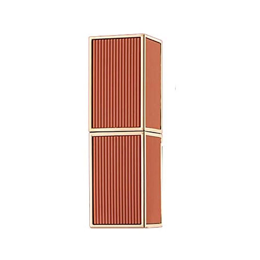 ランタンイル作成者リップバーム 1pc スクエアチューブ 口紅 リップスティック レッド 深い色 保湿 リップクリーム ベルベット メイク プレゼント ツヤツヤな潤い肌の色を見せるルージュhuajuan