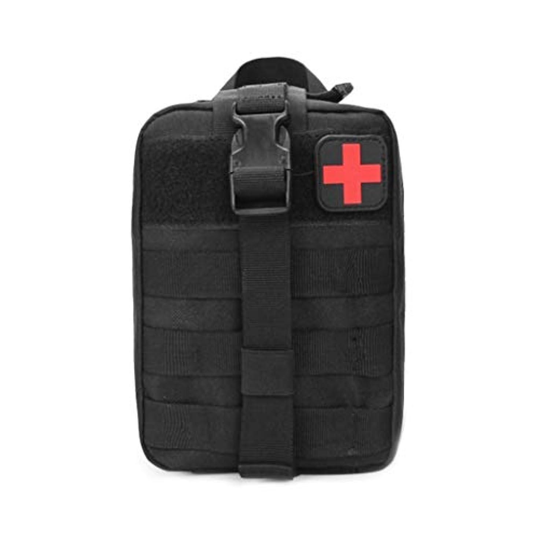 死の顎動詞移住するXuping shop 旅行救急箱屋外防水オックスフォード布ウエストパック、キャンプクライミングバッグブラック緊急ケース (色 : D)