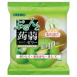 オリヒロ ぷるんと蒟蒻ゼリー キウイ 20gパウチ×6個×24袋入×(2ケース)