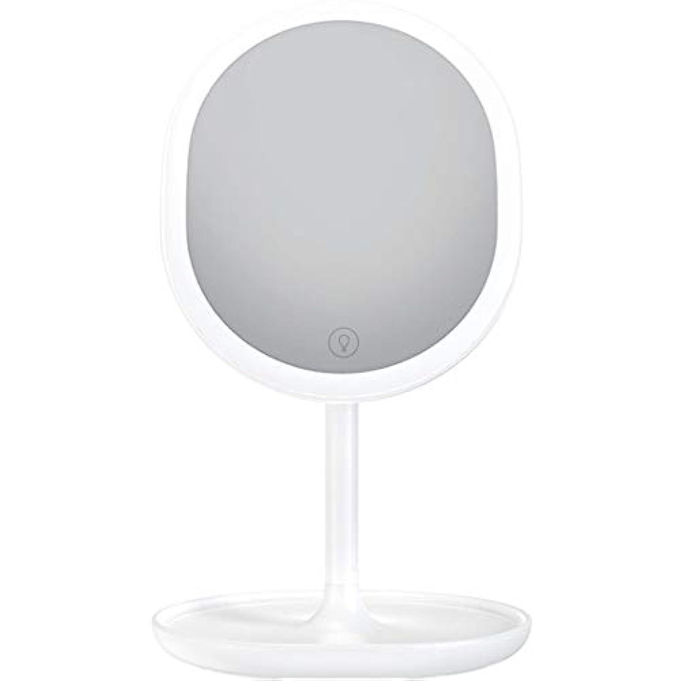 相対的急ぐメイエラ化粧鏡 LED卓上化粧鏡 充電式 led付き 5倍拡大鏡付き 明るさ調節可能 等倍鏡 5倍拡大鏡 メイクミラー 180度回転式 1個入り (ホワイト)