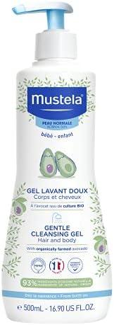 Mustela Gentle Cleansing Gel, For Normal Skin, Baby Hair & Body Wash, 50