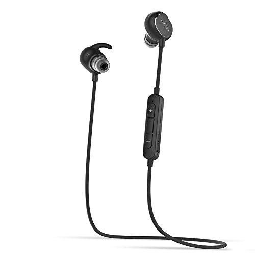 QCY Bluetooth イヤホン QY19 ワイヤレス スポーツ イヤホン ブルートゥース 4.1 APT-X対応 CVC6.0 ノイズキャンセリング 防水 Bluetooth ヘッドホン iphone/Android対応 マイク付き 技適認証済メーカー1年保証ブラック