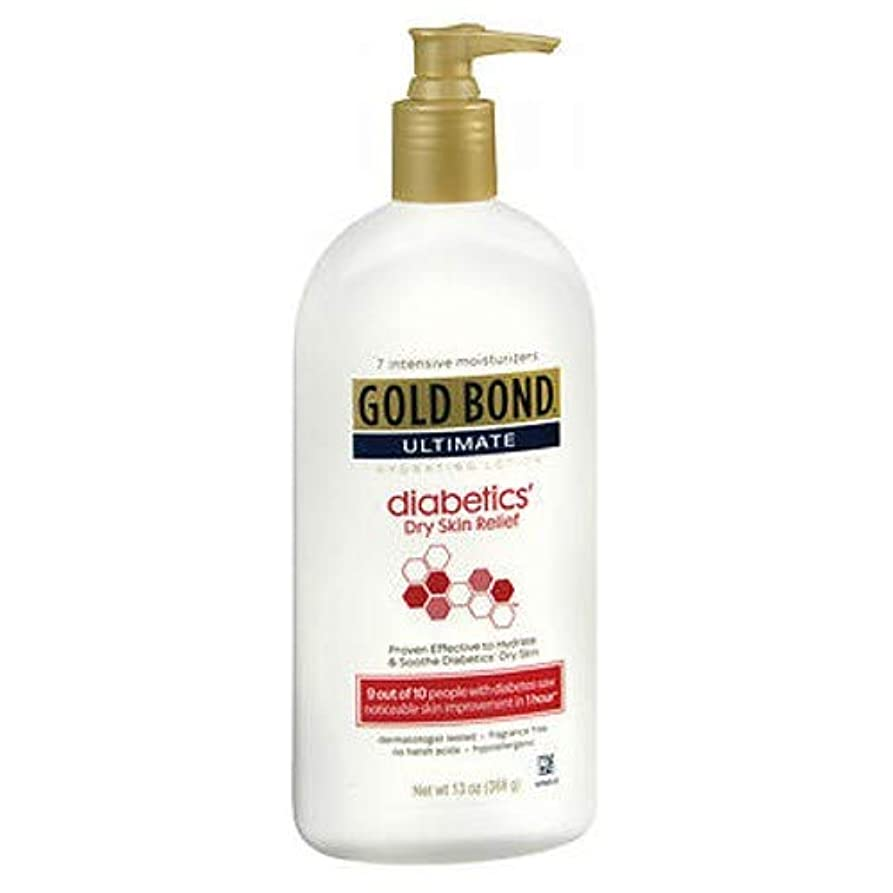 静める何もない優雅Gold Bond Ultimate 糖尿病性皮膚救済ローション、香料フリー13オンスによって