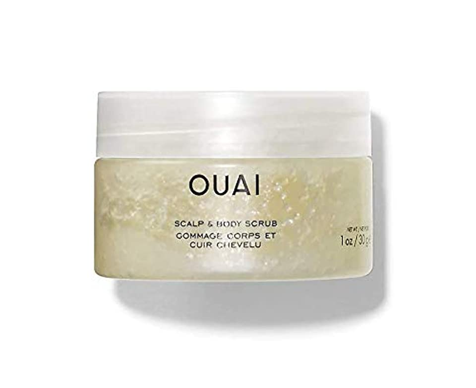 振り返るビール早いOUAI Scalp & Body Scrub 1oz/ 30g