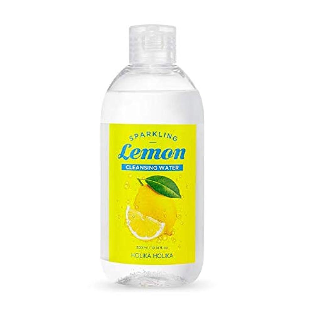 教育する終点ストローホリカホリカ 炭酸レモンクレンジングウォーター 300ml / Holika Holika Sparkling Lemon Cleansing Water 300ml [並行輸入品]