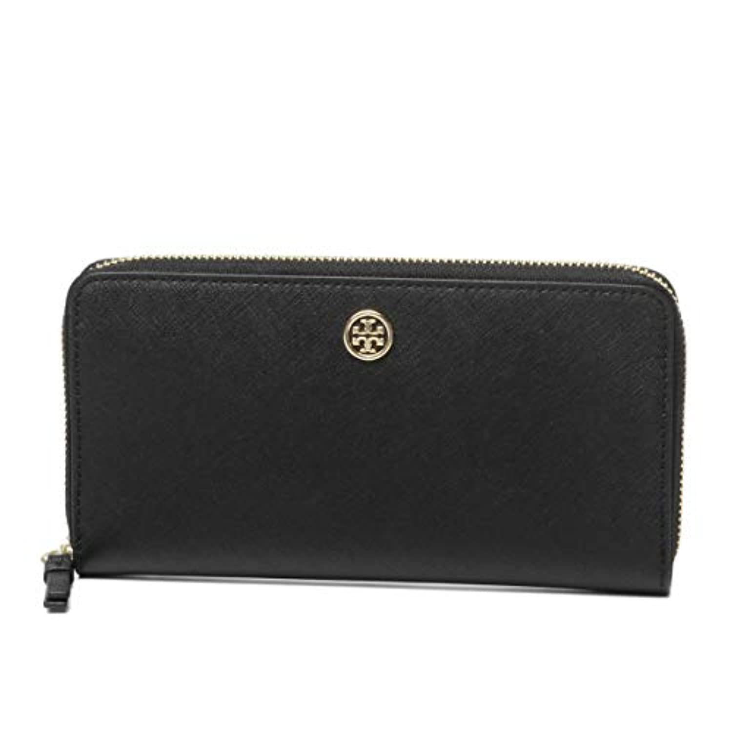 (トリー バーチ) TORY BURCH ROBINSON ZIP CONTINENTAL WALLET ラウンド長札入財布 #45254 018 BLACK/ROYAL NAVY 並行輸入品