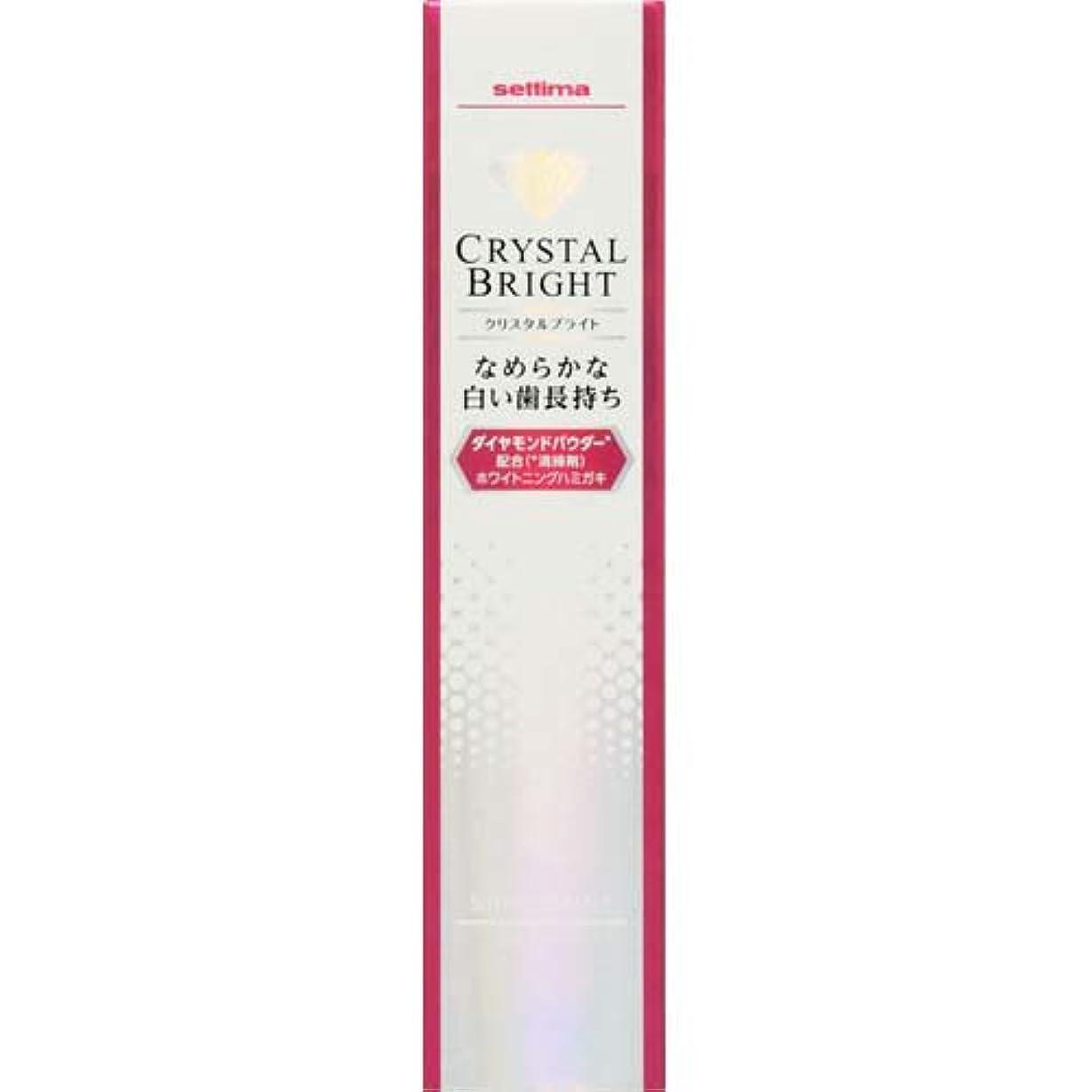 酸化物正しい神話セッチマ クリスタルブライト ハミガキ シャインミント 40g