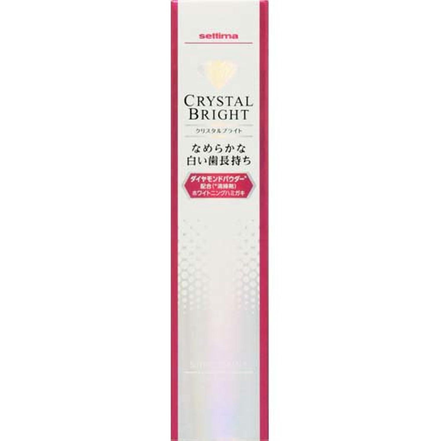 乳製品手書き知性セッチマ クリスタルブライト ハミガキ シャインミント 40g