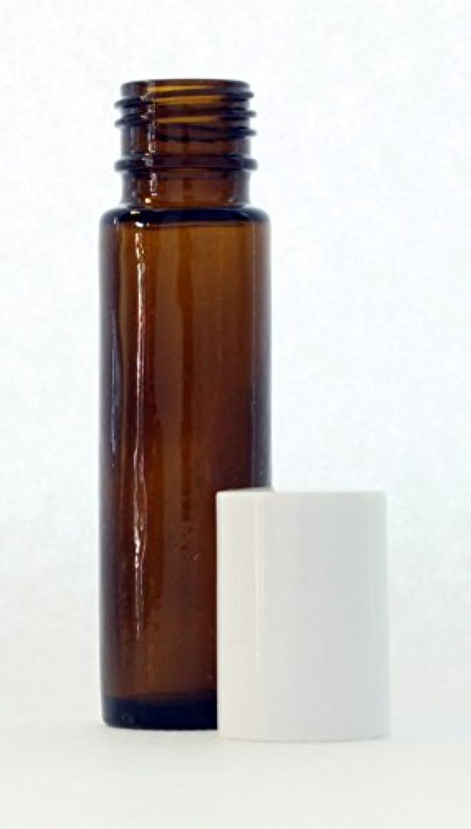 受け取る容量失われたボトルには10ミリリットル(1/3オンス)アンバーグラスエッセンシャルオイルロール - 4のパック