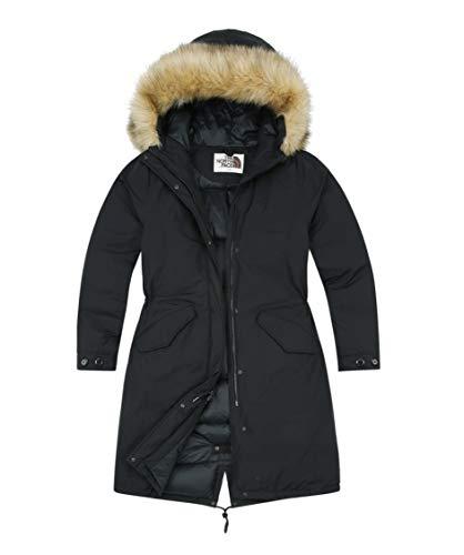 (ノースフェイス) THE NORTH FACE 女性ロング丈ダウンジャケットノーウォークダウンコート冬のパディングジャンパー (100(XL), BLACK) [並行輸入品]
