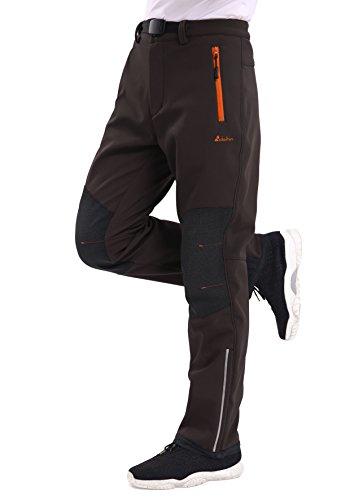 秋 登山パンツ メンズ clothin(クロスン)アウトドアスポーツ トレッキング ハイキング 速乾撥水 防風 防水 防寒-L-ブラウン