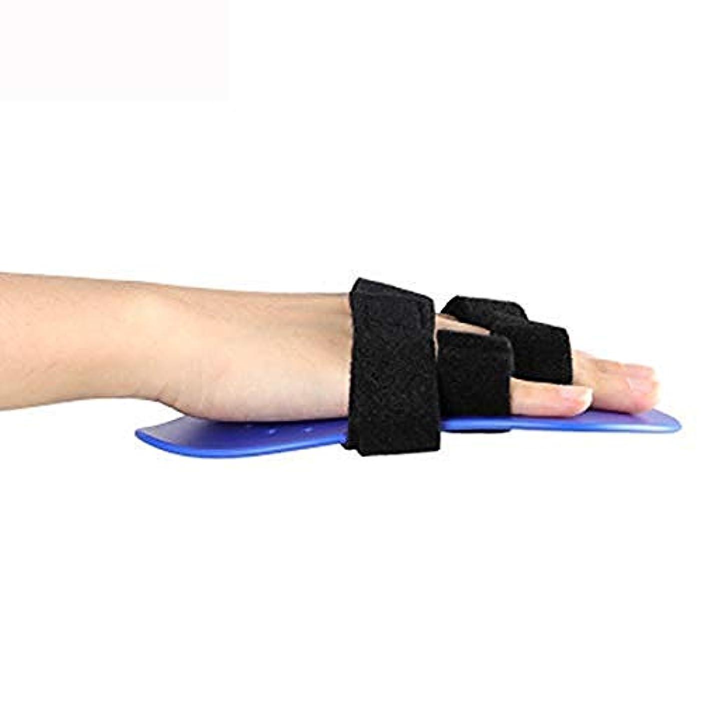 茎添付ブルーベルトリガー指副木、手首支持装置指セパレーター装具手根管関節痛緩和装具,Left Hand-S