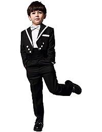 80efa8b5d9567 ニューヤ (Newya) 男の子 豪華 フォーマル 子供スーツ ギッズ服 燕尾服 卒園式 フラワー