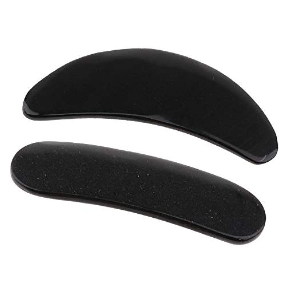 表面帽子練習したKESOTO 2個 かっさプレート マッサージ カッサ道具 カッサボード カッサマッサージ道具 ブラック