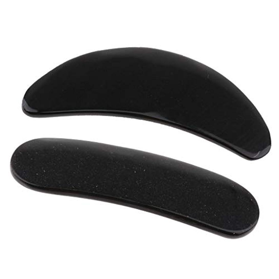 排気我慢する数値2個 かっさプレート マッサージ カッサ道具 カッサボード カッサマッサージ道具 ブラック