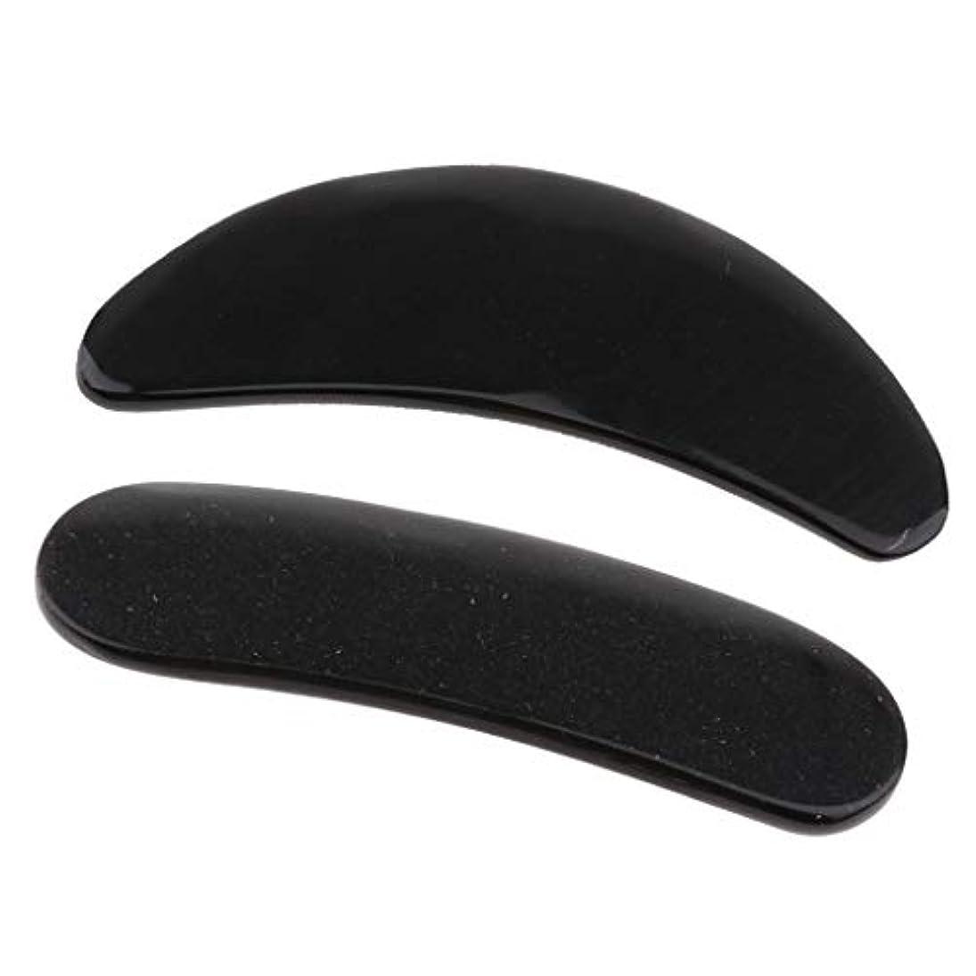 震え心から発言する2個 かっさプレート マッサージ カッサ道具 カッサボード カッサマッサージ道具 ブラック