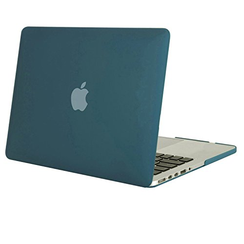Mosiso - MacBook Pro Retina ディスプレイ 13インチ 薄型 耐衝撃 保護 ハードケース シェルカバー (対応モデル:2015 / 2014 / 2013 / 2012[A1425 / A1502] 光学ドライブ無し) (ディープティール)