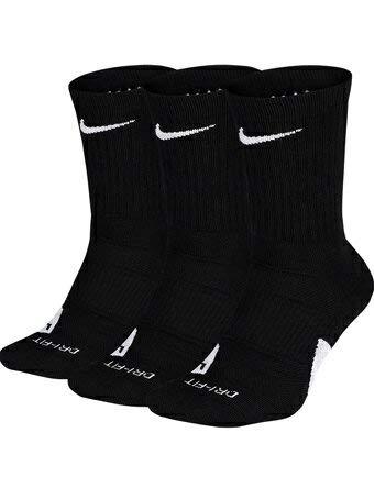 (ナイキ) Nike ソックス Elite Crew 3-Pack Socks Blk/Wht CREWソックス バスケットボール ランニング トレーニング ストリート
