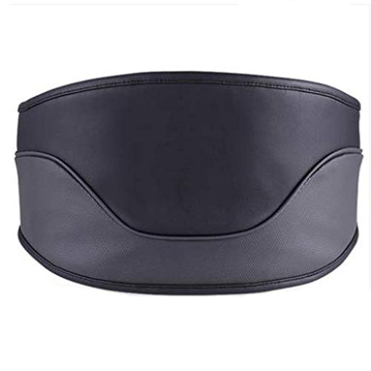 高原ヒュームあいにくマッサージャー マッサージャーウエストマッサージャー首肩全身ホーム腰椎マッサージャー電気暖房付き多機能成人理学療法ギフトホームオフィスカー (Color : Black, Size : M)