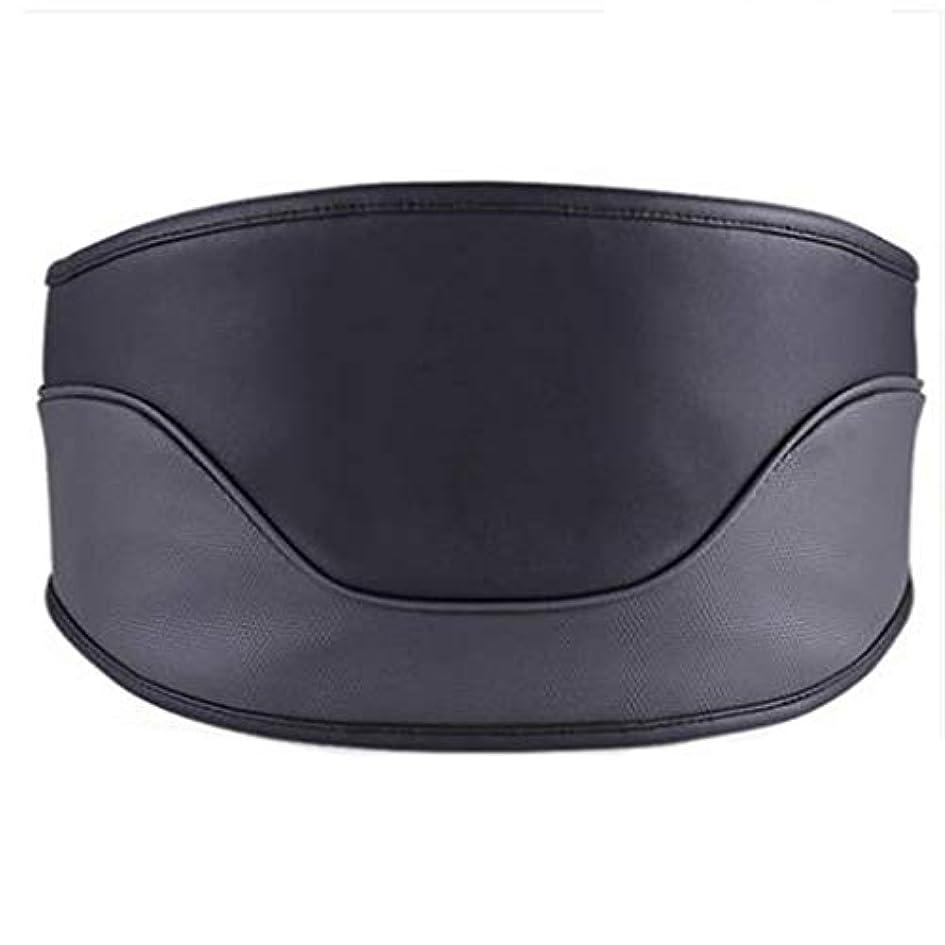 グレーびっくりシャープマッサージャー マッサージャーウエストマッサージャー首肩全身ホーム腰椎マッサージャー電気暖房付き多機能成人理学療法ギフトホームオフィスカー (Color : Black, Size : M)