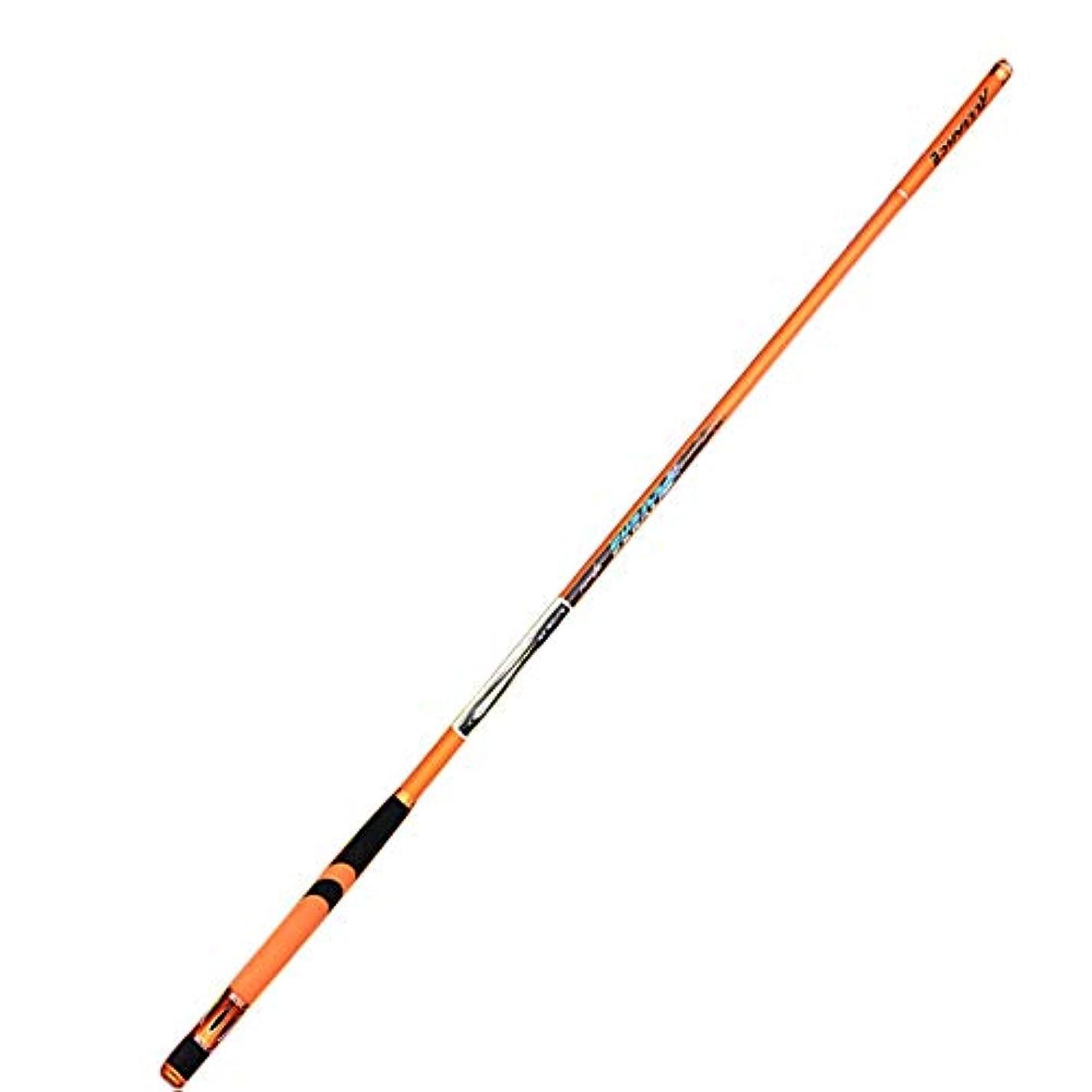 教育者補足取り替えるWazenku 釣り竿スピニングリール釣りスピードベース釣り竿、旅行用軽量軽量高炭素淡水釣りスピニング&キャスティング (色 : オレンジ, サイズ : 4.5M)